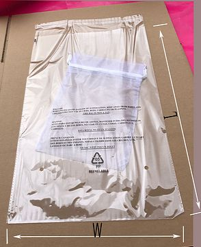 """Case//1000 10/"""" x 15/"""" CLEAR Bottom Seal Flat Poly Bags W//3 Language Warning 1 mil"""